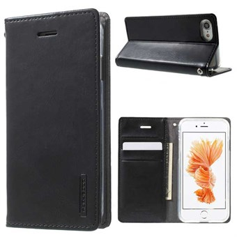 Image of   iphone 7/8 Simple Classic Blue Moon Card Slot Wallet Leather - Sort / under updatering